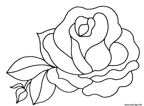 Coloriage Fleur De Rose Jecoloriecom
