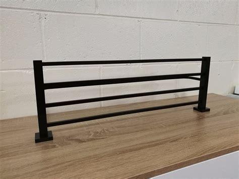 luxe square matte black    towel rack shelf