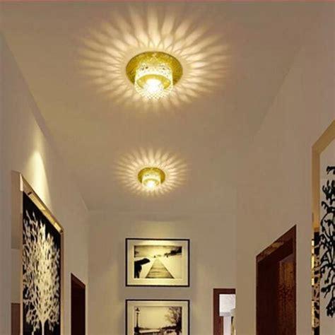 modern led ceiling spotlights crystal balcony hallway