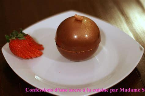 sablé cuisine sphère chocolat caramel ou le dessert