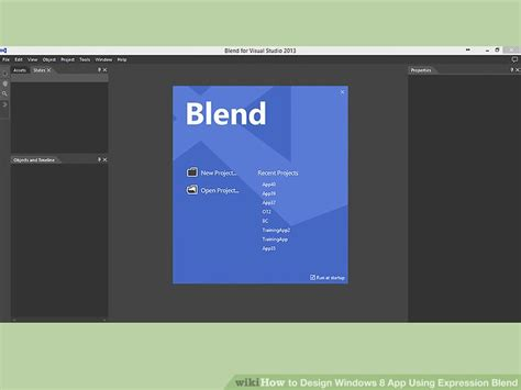 how to design windows 8 app using expression blend with