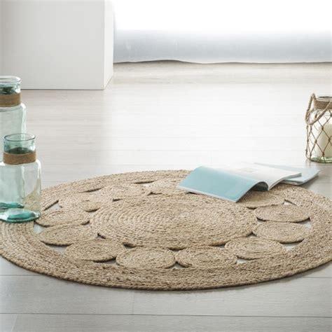 tapis jute  cm vent beige naturel tapis eminza