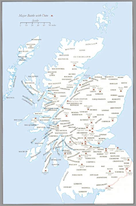 scottish clans lists maps history  clan castle paintings