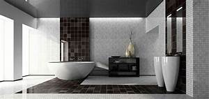 Modern black and white bathroom designs for Black and white modern bathroom