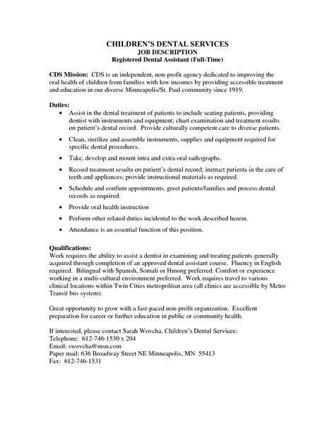 dental assistant skills  qualifications registered