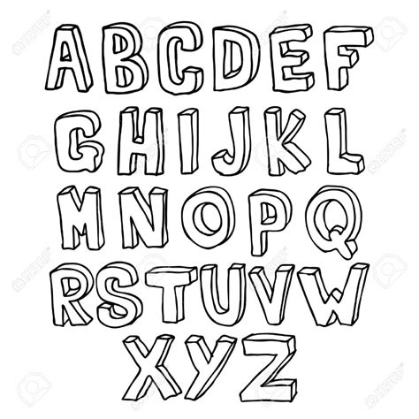 how to draw letters in 3d draw 3d alphabet pencil drawing 50276