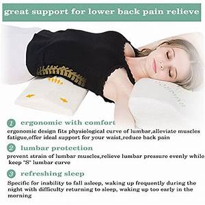 soft memory foam sleeping pillow for lower back import With alleviate lower back pain while sleeping