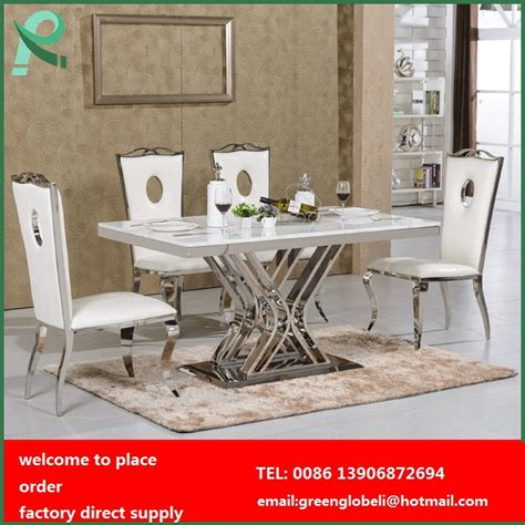stainless steel dining table  chairs dining room table
