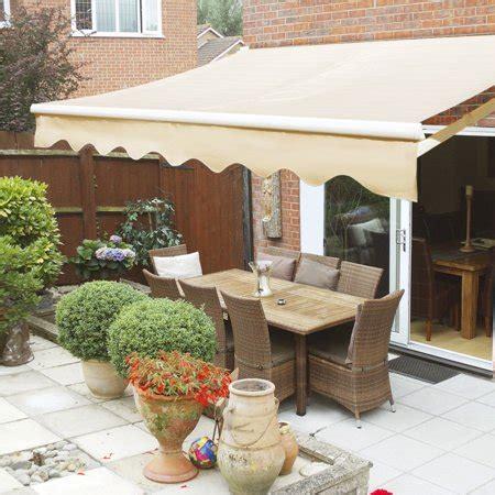 manual retractable patio awning outdoor sun shade canopy tan walmartcom