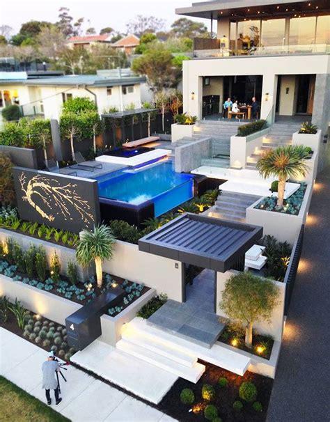 Garden Decoration Melbourne by Modern Resort Style Home Landscaping Melbourne