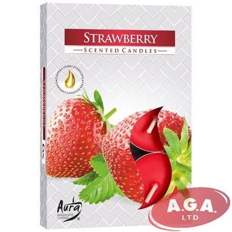 Aura tējas sveces Strawberry 6 gb - SIA A.G.A LTD