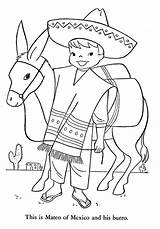 Coloring Pages Peru Mexican Brazil Mexico Children Argentina Printable Hawaii Canada Traditional Fiesta Lands Clothing Embroidery Patterns Colouring Alaska 1954 sketch template