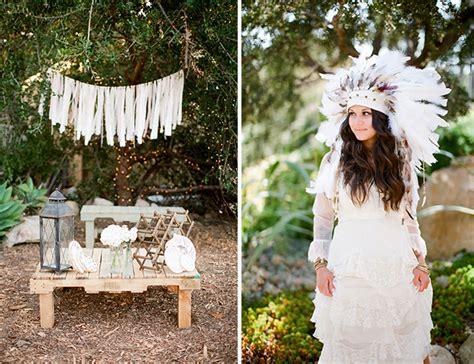 Bohemian Backyard Wedding by Outdoor Bohemian Wedding Inspired By This