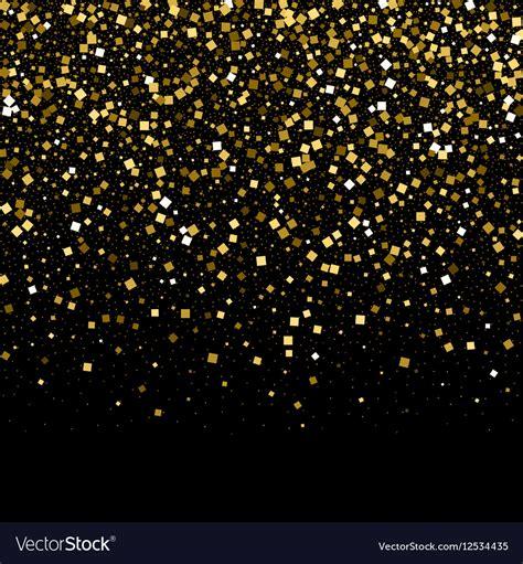 Gold Confetti Background Gold Confetti Glitter On Black Background Vector Image