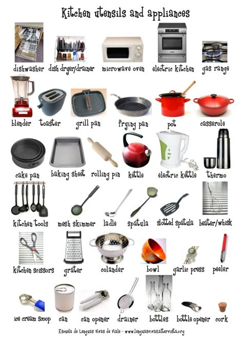 kitchen utensils appliances flash cardposter