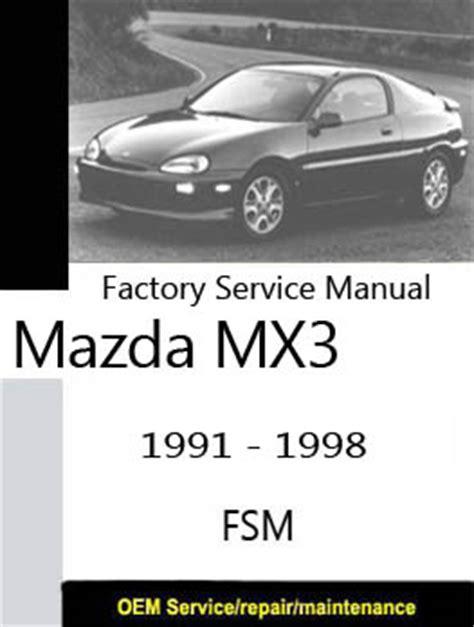 small engine repair manuals free download 1992 mazda miata mx 5 seat position control mazda mx3 eunos only repair manuals