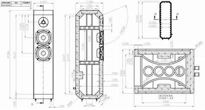 Drawing Tower Enclosure Way Loudspeaker Ion Tmm