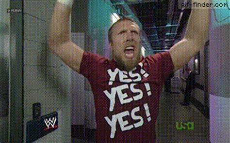 Finder Yes by Daniel Bryan Yes Yes Yes Gif Finder Find And