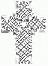 Coloring Celtic Cross Printable Pages Popular sketch template
