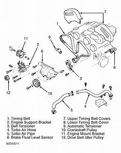 1995 Mitsubishi 3000gt Serpentine Belt Routing And Timing