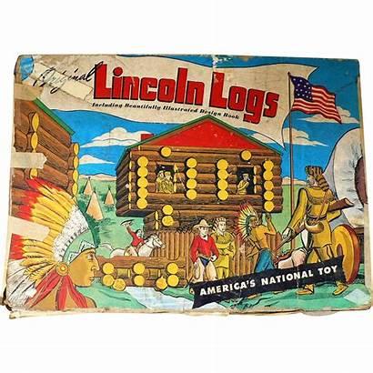 Lincoln Logs Toy Box Metal Muddy Antiques