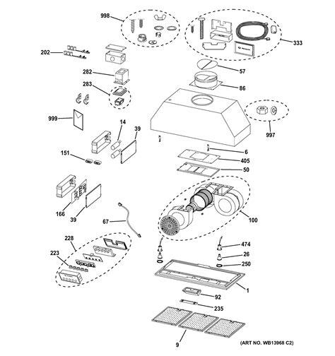 assembly view  range hood zvclss