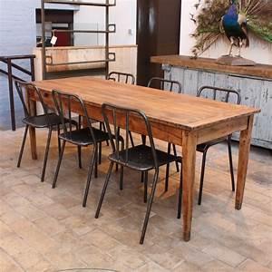 Table En Bois Massif Ancienne : ancienne table de ferme en bois ~ Teatrodelosmanantiales.com Idées de Décoration