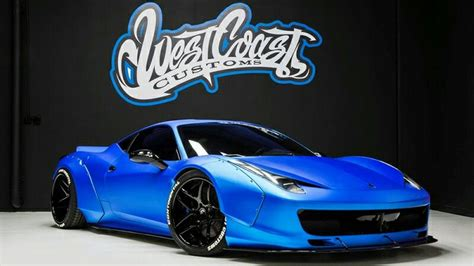 Lbwk 1 64 aventador lp700 liberty walk chrome red toys games. Justin Bieber Ferrari 458 Italia Liberty Walk ICE BLUE (West Coast Customs) | Ferrari 458, West ...