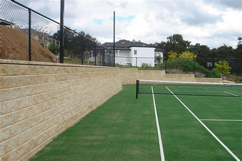 tennis court fencing retaining walls ultracourts melbourne