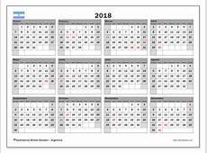 Calendarios para imprimir 2018 Argentina