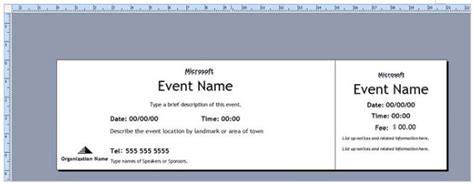 Publisher Ticket Template by Ms Publisher Ticket Template