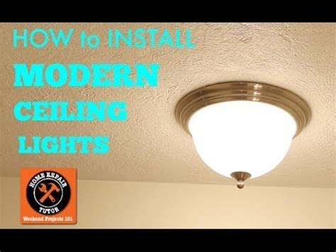 modern ceiling lights how to install by home repair
