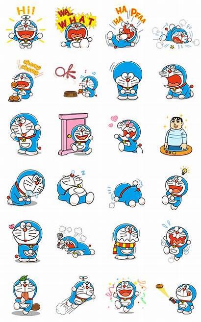 Doraemon Stickers Line Animated Sticker Cartoon Wallpapers