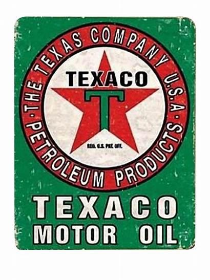 Texaco Signs Tin Oil Motor Retro Metal