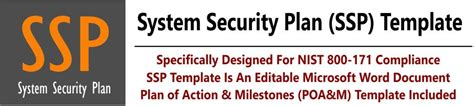 nist 800 171 ssp products cybersecurity policies standards procedures system security plan ssp template