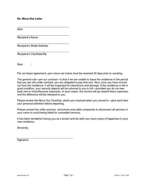 letter  landlord moving  letter