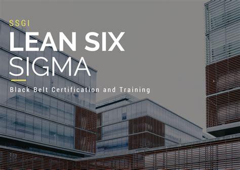 black belt certification lean  sigma