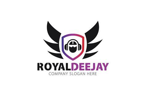 dj logo photoshop template royal dj logo logo templates creative market