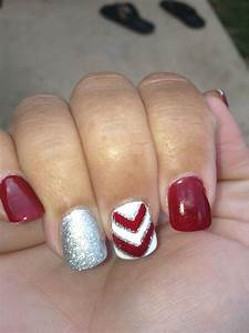 Cute Football Nail Designs Nails Done By At Fancy Nails Fayetteville Ar