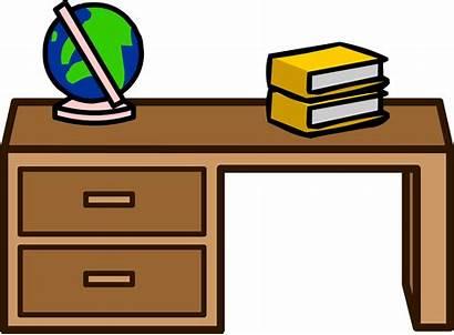 Desk Student Penguin Teacher Clipart Wikia Transparent