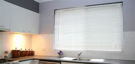 """½"""" Micro Aluminum Mini Blinds From Selectblinds.com White Kitchen With Tile Floor Two Different Colored Cabinets In Quartz Countertops For Kitchens Colors Cream Eat Plans Country Backsplash Ideas Paint Color Designs"""