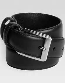 Men's Wearhouse Boys Black Leather Belt