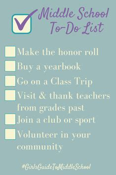 girls guide  conquering middle school ideas