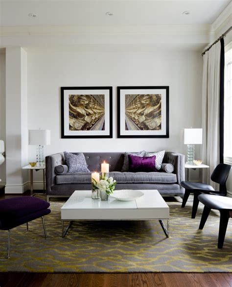 HD wallpapers purple living room accent wall
