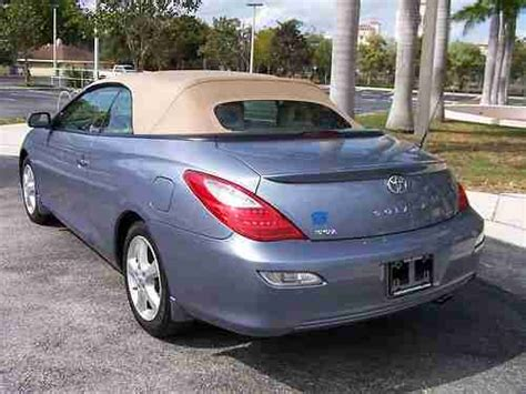 2008 Toyota Solara Convertible by Buy Used 2008 Toyota Solara Sle Convertible Light Blue