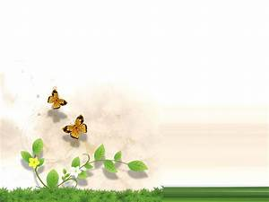 Grass and Flower with butterfly PPT Backgrounds, Grass and ...