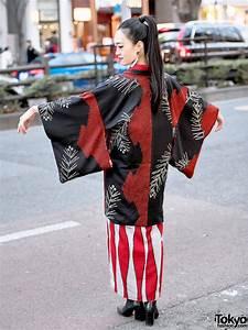 Japanese, Street, Style, W, Kimono, Hazuki, Kimono