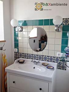 Uhr Für Badezimmer : bad ideen mit mexikanischen fliesen mexikanische waschbecken bunte fliesen aus mexiko ~ Orissabook.com Haus und Dekorationen