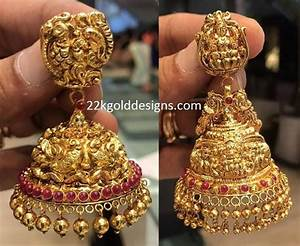 22 Carat Gold Jhumka Designs 22 Carat Gold Antique Jhumka Models Gold Jewelry Fashion