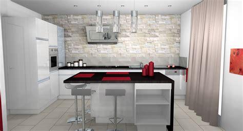 cuisine plan cuisine moderne parement contemporain mobilier